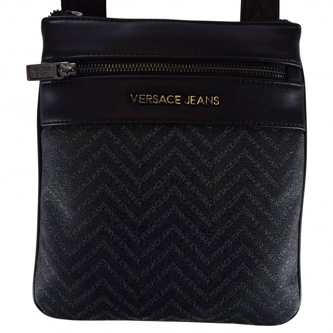 Versace Accessories Versace Accessories Black Leather Logo