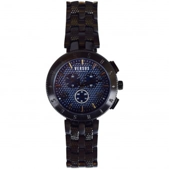 Versace Accessories Black/Navy Chronograph Watch