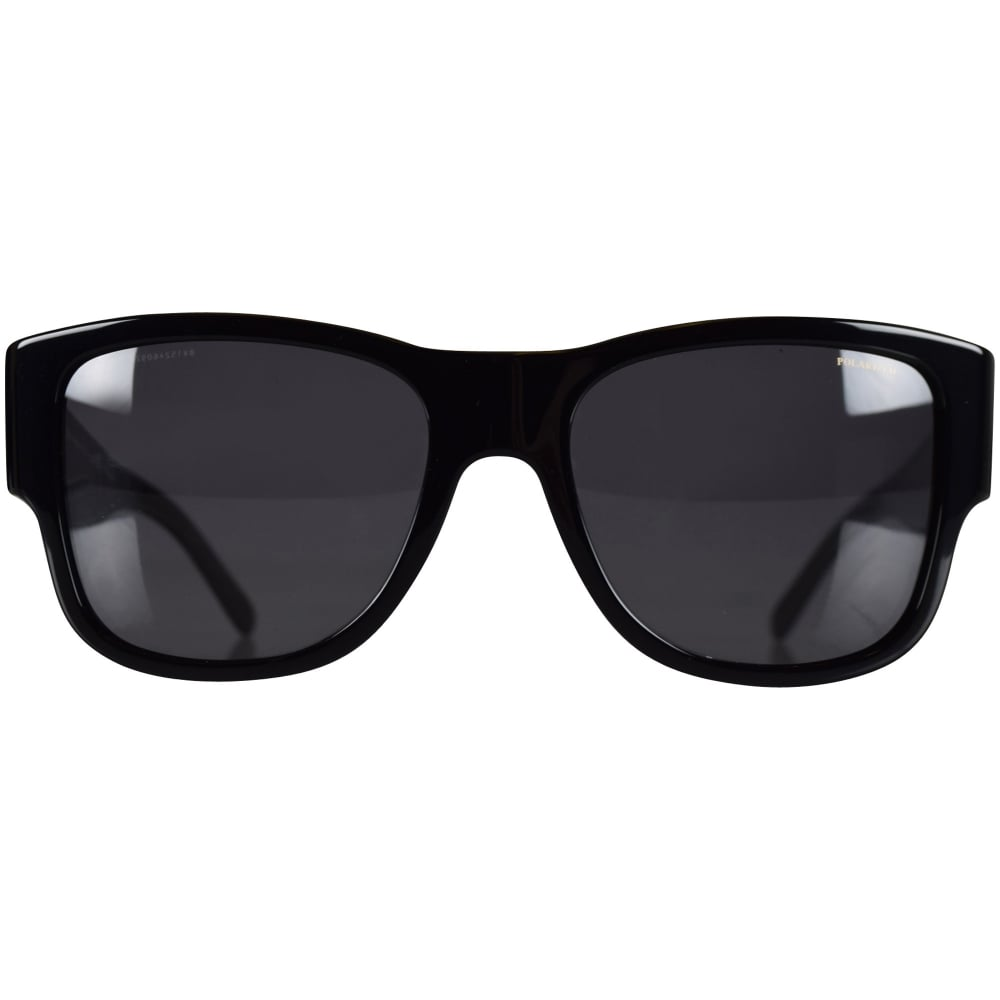 9757dae21d18 VERSACE Versace Accessories Black Polarized Medusa Wayfarer ...