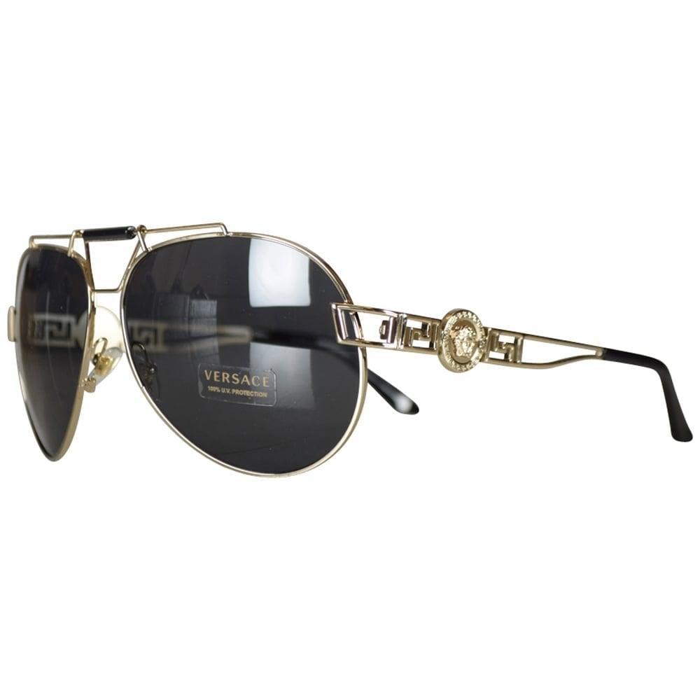 d28eb40d095 VERSACE Versace Accessories Gold Medusa Aviator Sunglasses - Men ...