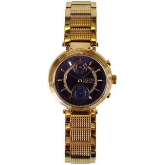 Versace Accessories Gold/Navy Ferry Watch