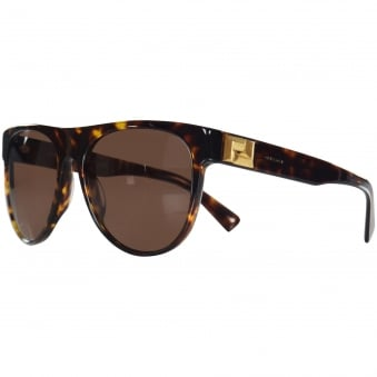 e1fb6afa6ee Versace Accessories Havana Gold Detail Wayfarer Sunglasses