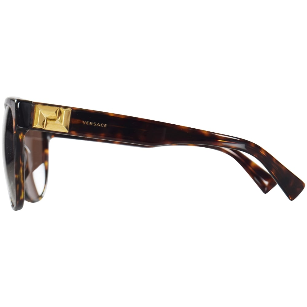 9c36877fe6 VERSACE Versace Accessories Havana Gold Detail Wayfarer Sunglasses ...
