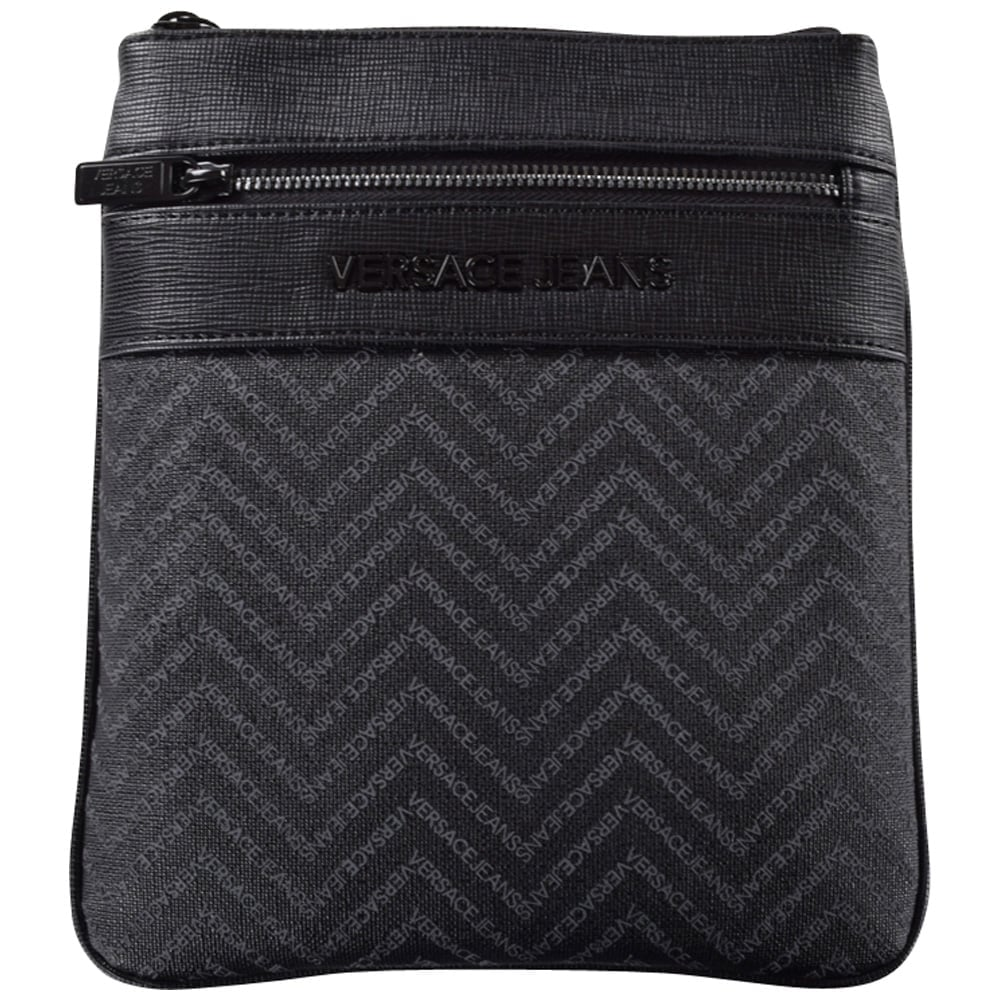 VERSACE ACCESSORIES Versace Jeans Black Logo Body Bag - Men from  Brother2Brother UK 56c51656e005b