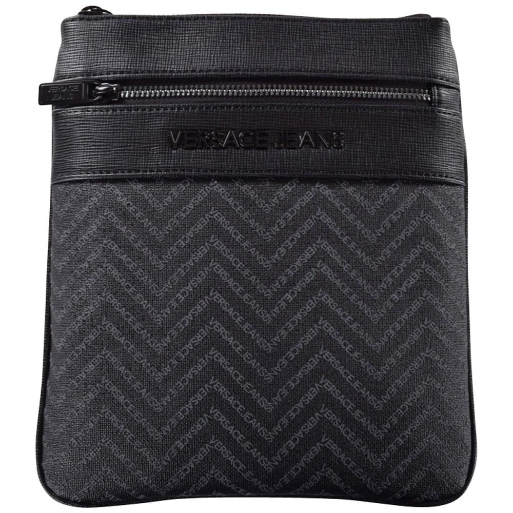 VERSACE ACCESSORIES Versace Jeans Black Logo Body Bag - Men from ... f4e65a0f3c246