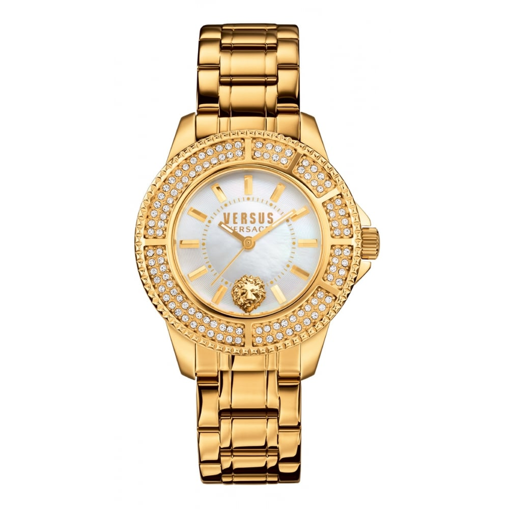 c5dfc2e26b4 VERSACE ACCESSORIES Versus Versace Gold Tokyo R Crystal Watch - Men from  Brother2Brother UK