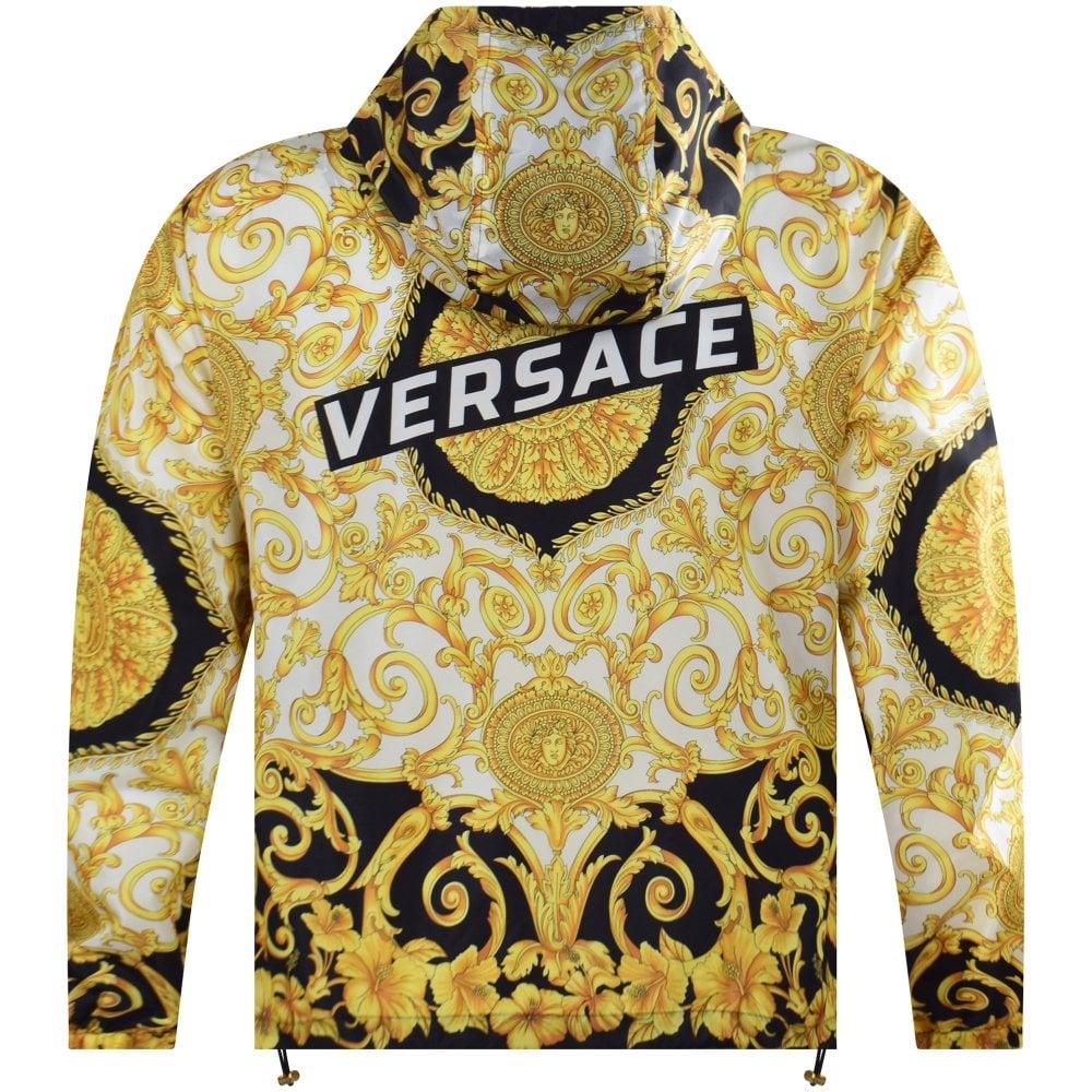high fashion wholesale online sports shoes Black/Gold Hibiscus Print Jacket
