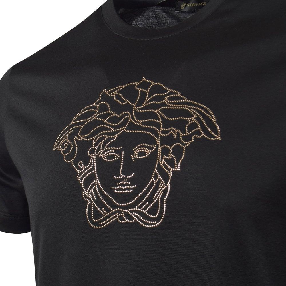black and gold versace shirt