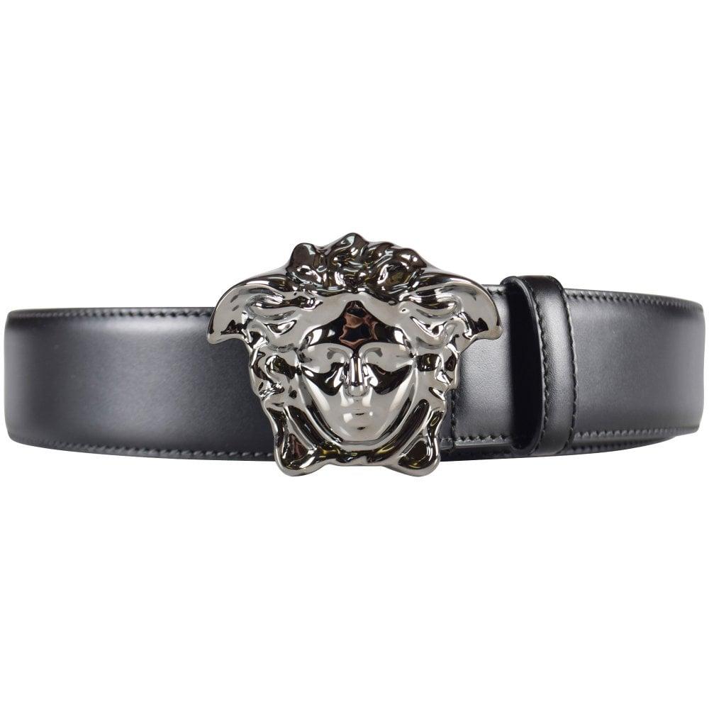 2db4133a93a68 VERSACE Versace Black/Silver Medusa Buckle Belt - Men from ...