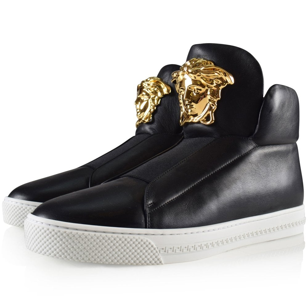9d8189781 VERSACE Versace Black Slip-On High Top Palazzo Trainer - Trainers ...