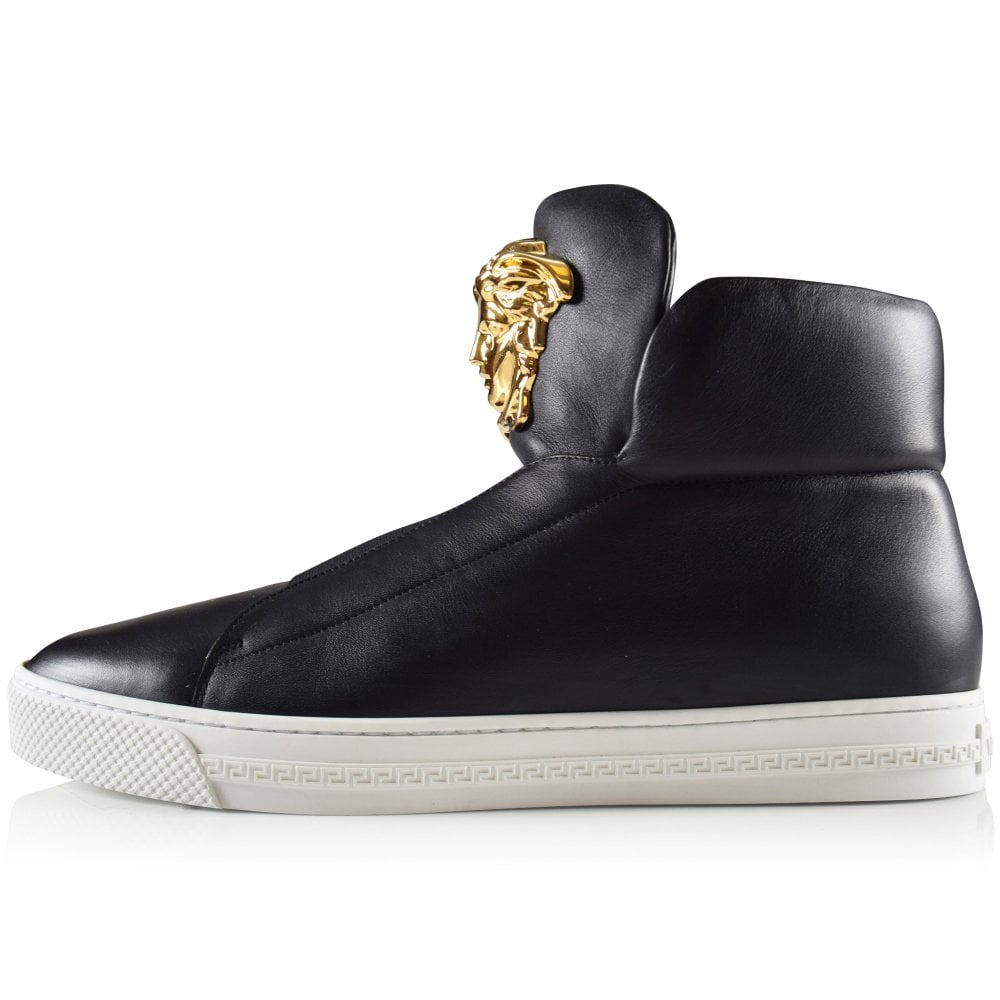 546f615a VERSACE Versace Black Slip-On High Top Palazzo Trainer