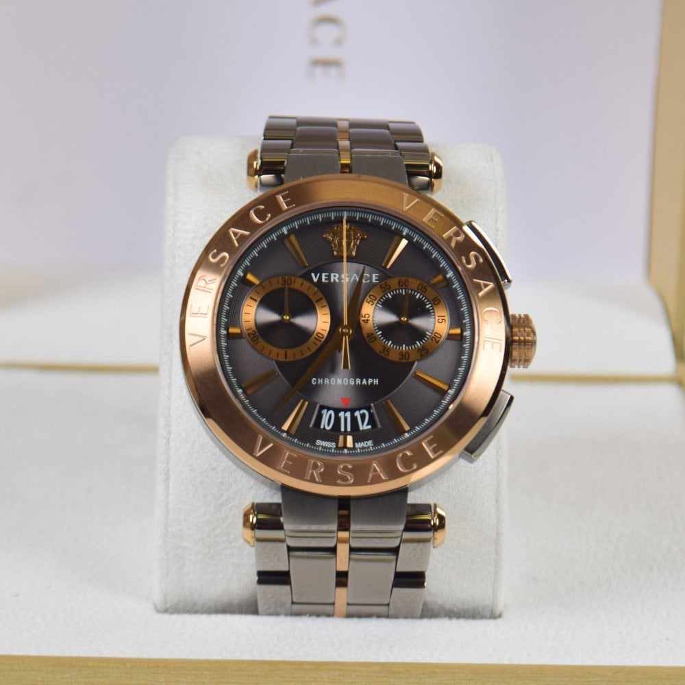 525b008c3 VERSACE Bronze-Gray Aion Chrome Watch - Men from Brother2Brother UK