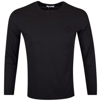 Versace Collection Black Logo Long Sleeve T-Shirt