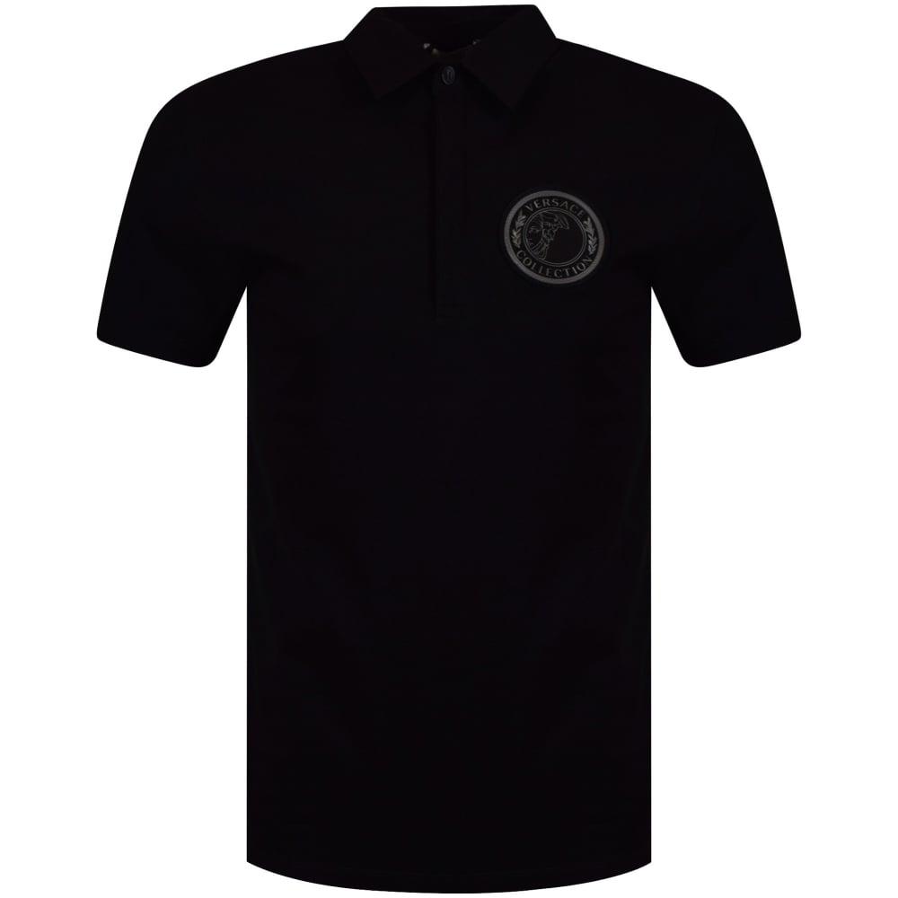 888e8d68 VERSACE COLLECTION Versace Collection Black Medusa Badge Logo Polo ...