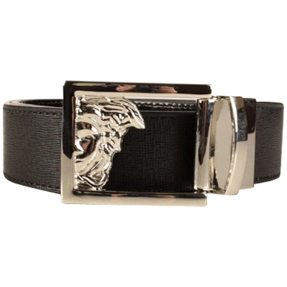 1a5eb2cc50b VERSACE ACCESSORIES Versace Collection Black Medusa Belt ...