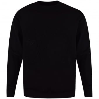 Versace Collection Black Neoprene Logo Sweatshirt