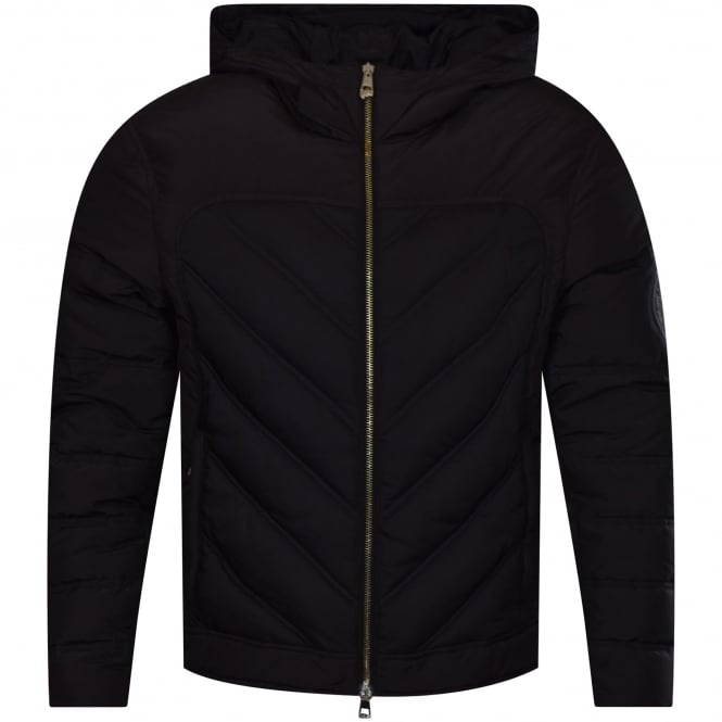 VERSACE COLLECTION Black Panel Hooded Jacket