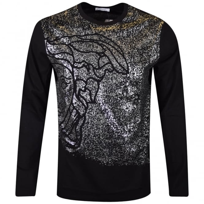 bc5d788a VERSACE COLLECTION Versace Collection Black Print Long Sleeve T ...