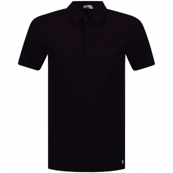 Versace Collection Black/Silver Medusa Back Logo Polo Shirt