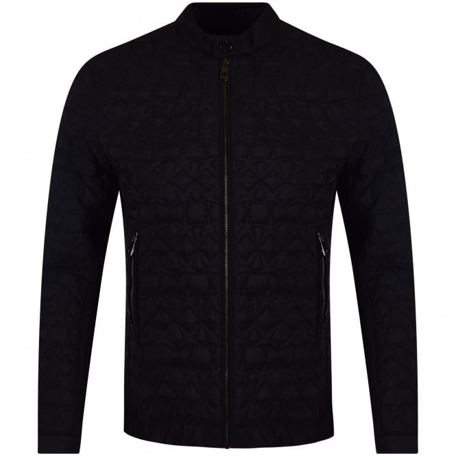 VERSACE COLLECTION Black Star Quilted Jacket