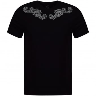 Versace Collection Black/White Wing Print T-Shirt