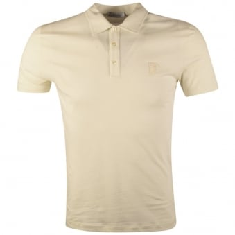 Versace Collection Cream Basic Polo Shirt