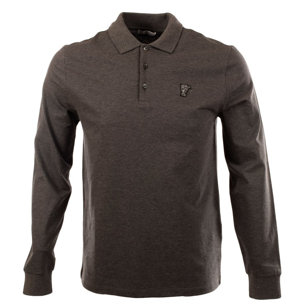 58754ab8 Mens Versace Collection | Versace Collection Long Sleeve Polo | Versace