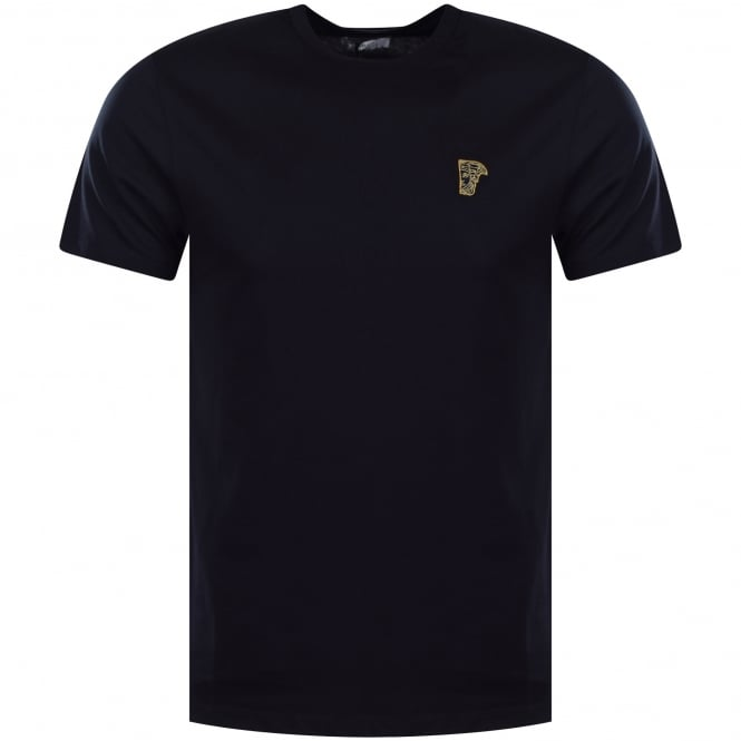 VERSACE COLLECTION Navy/Gold Medusa Logo T-Shirt