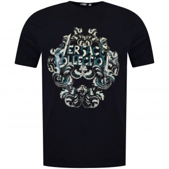 Versace Collection Navy Logo T-Shirt