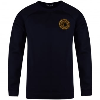 Versace Collection Navy Neoprene Logo Sweatshirt
