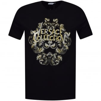 Versace Collection Silver/Gold Logo T-Shirt
