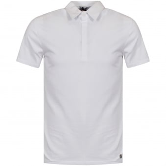 Versace Collection White Back Logo Polo Shirt