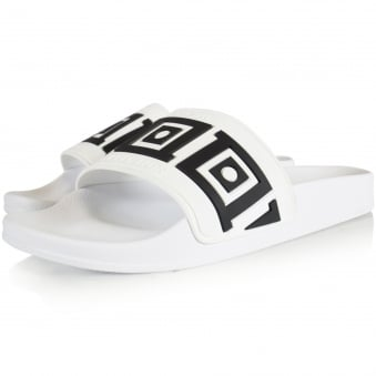 Versace Collection White/Black Aztec Pool Sliders