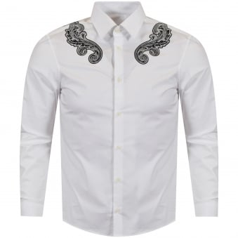 Versace Collection White/Black Wing Detail Shirt