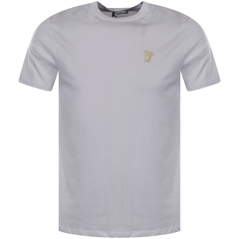 f1d034bf VERSACE COLLECTION Versace Collection White/Gold Medusa Logo T-Shirt ...