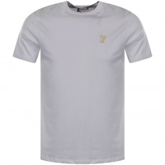 Versace Collection White/Gold Medusa Logo T-Shirt