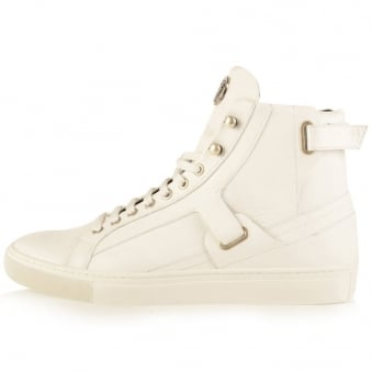 Versace Collection White Hi-Top Trainers