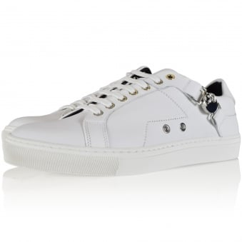 Versace Collection White Leather Medusa Buckle Trainers