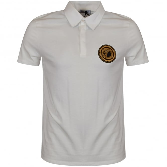 8125076e VERSACE COLLECTION Versace Collection White Medusa Badge Polo Shirt ...