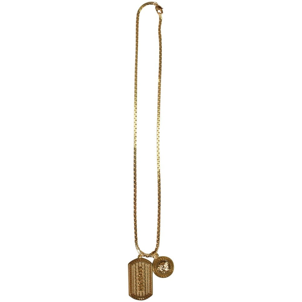 VERSACE Versace Gold Dog Tag Necklace - Men from Brother2Brother UK f6cb8fb7e05