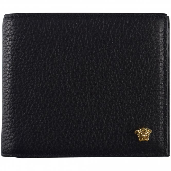 VERSACE Grained Leather Medusa Wallet