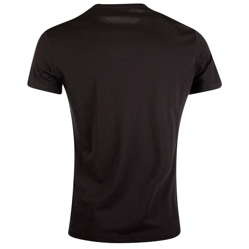 2078e367e VERSACE JEANS Versace Jeans Black All Over Animal Print T-Shirt ...