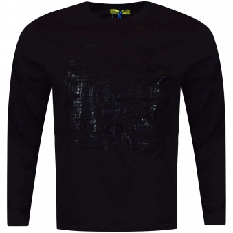 Versace Jeans Black/Black Large Logo Long Sleeve T-Shirt