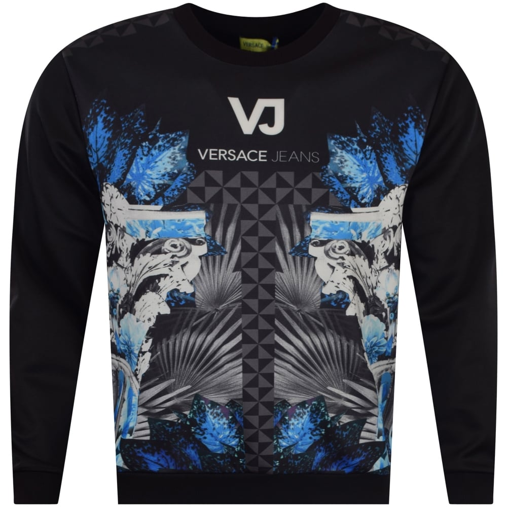 Print Versace Neoprene Blackblue Jeans Multi oCxBde