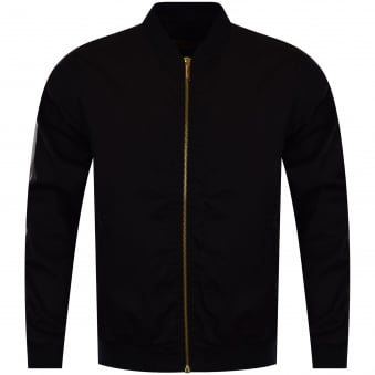 Versace Jeans Black Contrast Bomber Style Jacket