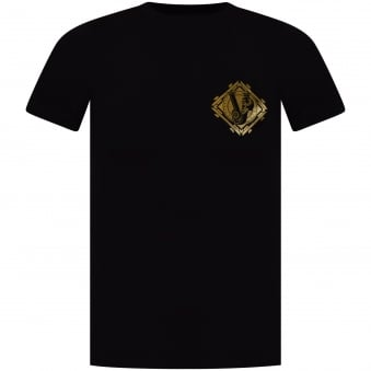 Versace Jeans Black/Gold Printed Logo T-Shirt