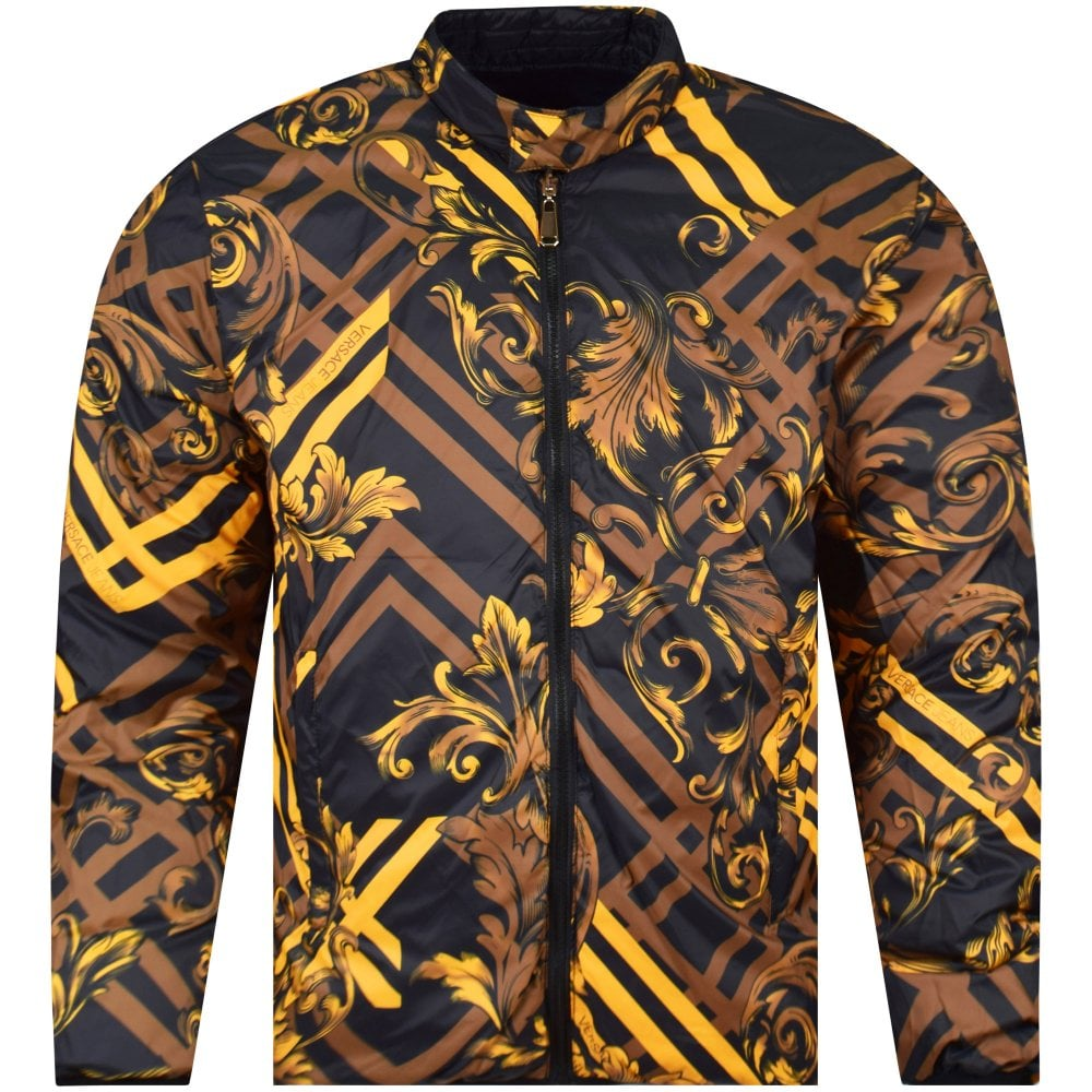 5f0e757afb VERSACE JEANS Black/Gold Reversible Padded Jacket - Department from ...