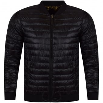 Versace Jeans Black/Gold Reversible Puffer Jacket