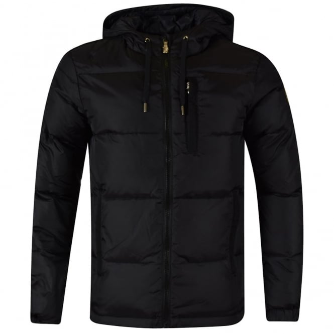 VERSACE JEANS Versace Jeans Black Hooded Puffer Jacket - Men from ... f873ff6e7376
