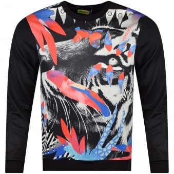 Versace Jeans Black Neoprene Light Sweatshirt
